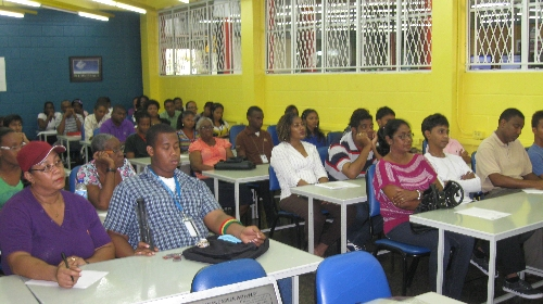 Parents and students at the ABE Parents' Day at the Champs Fleurs Campus