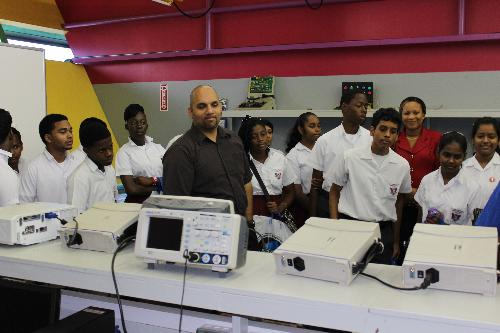 Both students and teachers were intrigued by the Engineering presentation