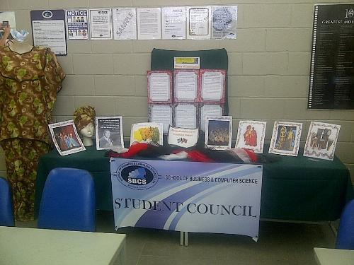 Student Council Emancipation Day Display