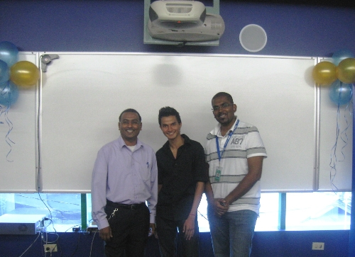 A. Mohammed with Lecturers Westley Lewis and Chanan Sudama
