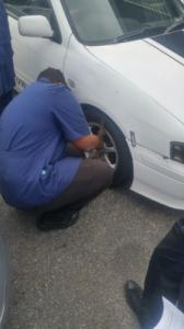 Checking condition of tires