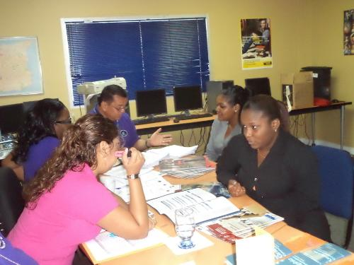 SBCS Course Administrators offer career guidance to Grace Kennedy employees