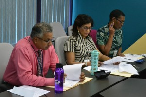 The Management team focused on the details of the exam analysis.