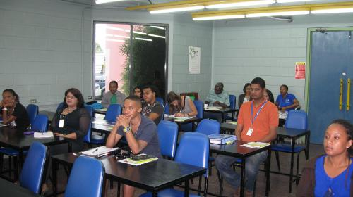 April 2012 students listens attentively.