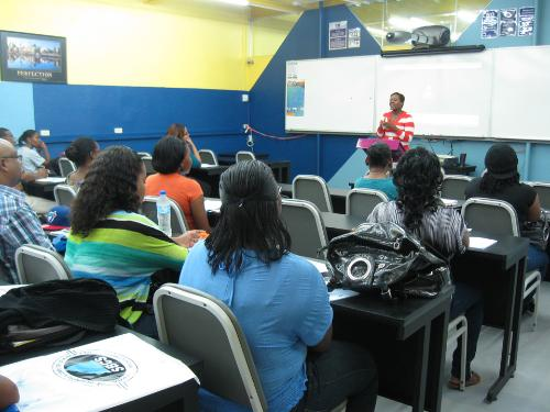 Trincity Campus Manager – Mrs. Alicia Cameron – welcomed our gathering and enlightened them about SBCS and our Trincity campus.