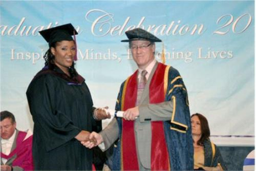 Ms. Dove with Prof. Simon Jarvis, Vice Chancellor of the University of Greenwich.