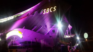 A shot of SBCS Trincity's display for Breast Cancer Awareness